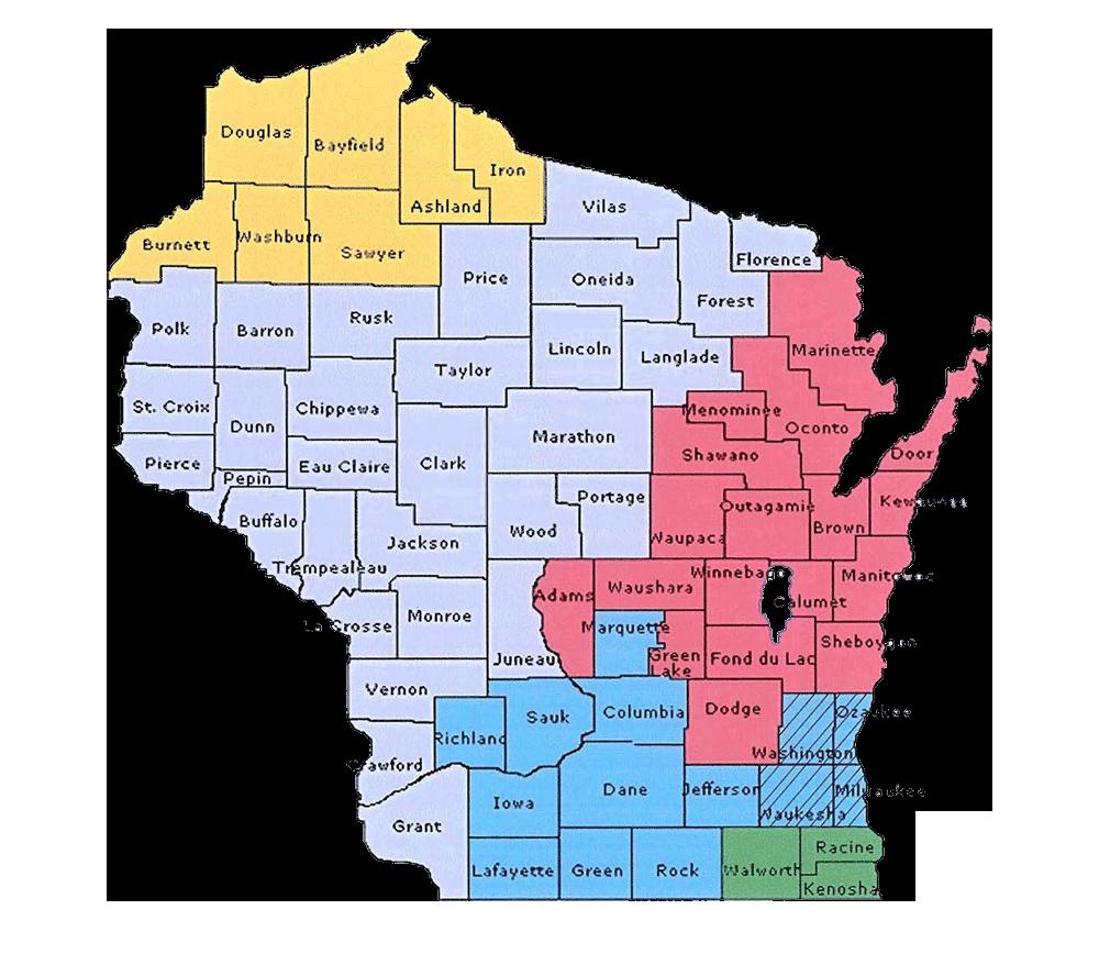Wisconsin Pipe Trades Association Jurisdiction Map