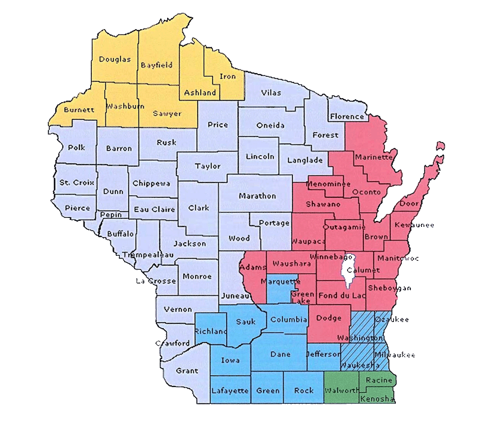 Wisconsin Pipe Trades Association Jurisdiction Map